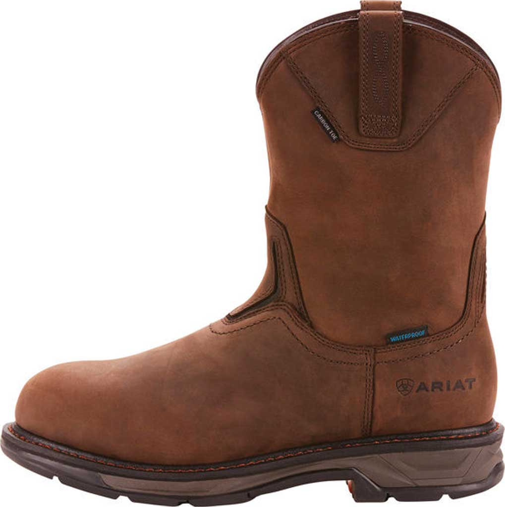 Men's Ariat WorkHog XT Wellington H2O Carbon Toe Cowboy Boot, Oily Distressed Brown Full Grain Leather, large, image 2