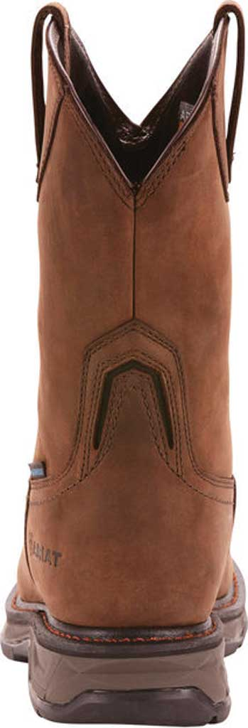Men's Ariat WorkHog XT Wellington H2O Carbon Toe Cowboy Boot, Oily Distressed Brown Full Grain Leather, large, image 3