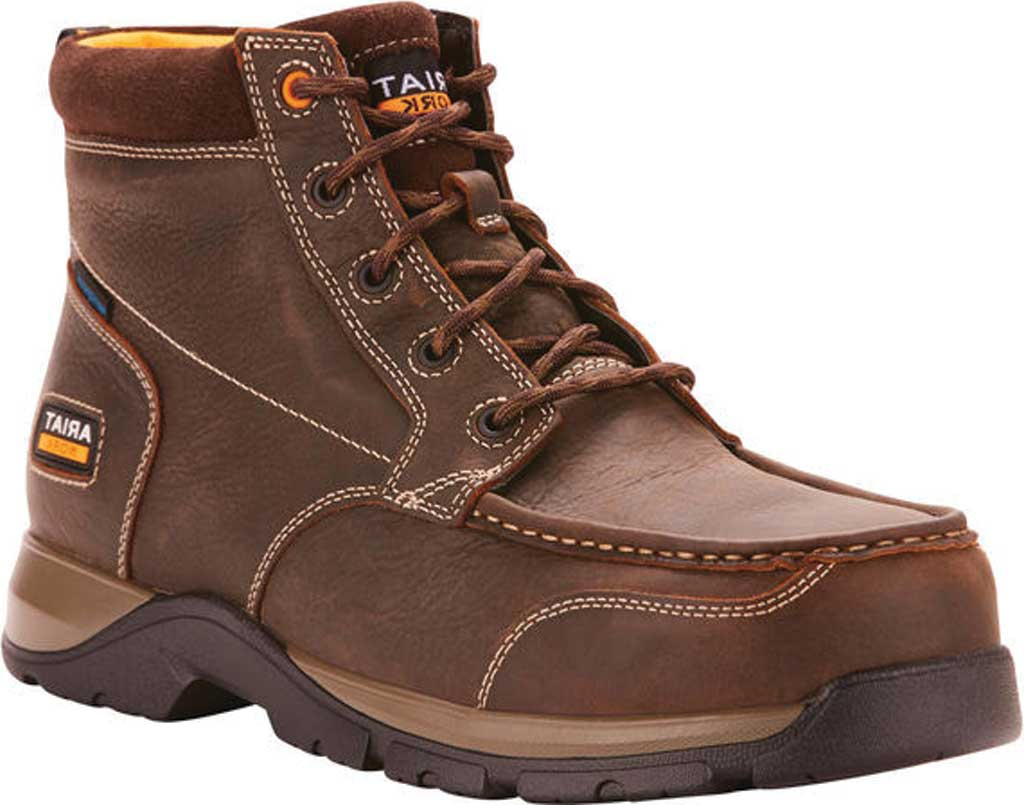 Men's Ariat Edge LTE H2O Composite Toe Work Boot, Dark Brown Leather, large, image 1