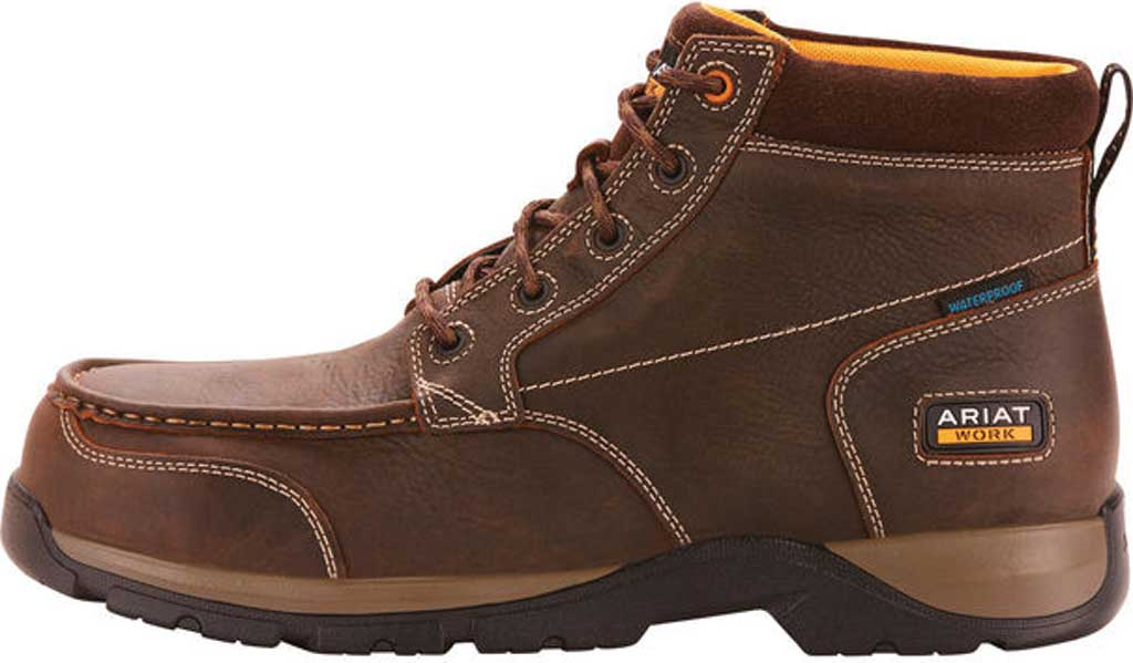 Men's Ariat Edge LTE H2O Composite Toe Work Boot, Dark Brown Leather, large, image 2