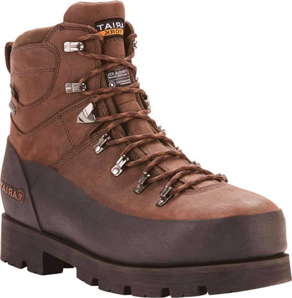 "Men's Ariat Linesman Ridge 6"" GTX 400G Composite Toe Boot, Bitter Brown Full Grain Leather, large, image 1"