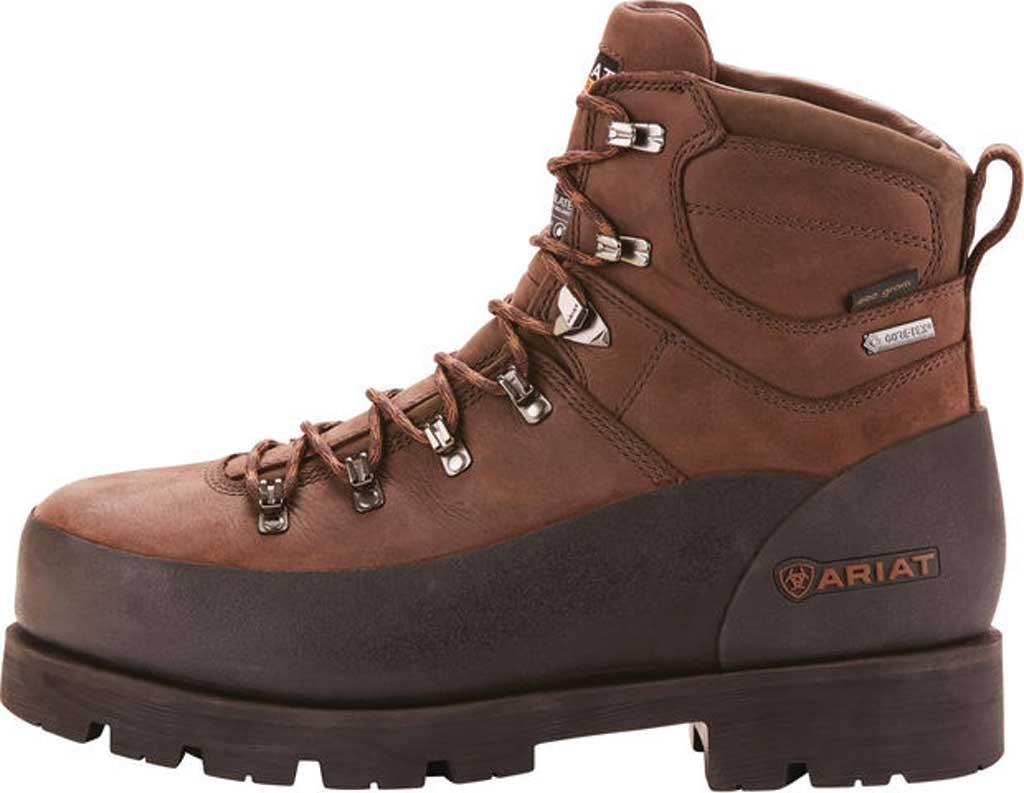 "Men's Ariat Linesman Ridge 6"" GTX 400G Composite Toe Boot, Bitter Brown Full Grain Leather, large, image 2"