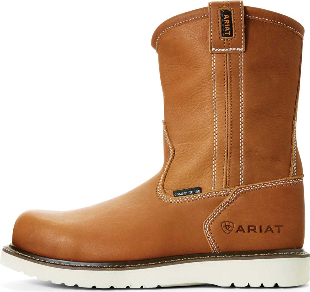 """Men's Ariat Rebar Wedge 6"""" Pull On Composite Toe Boot, Golden Grizzly Full Grain Leather, large, image 2"""