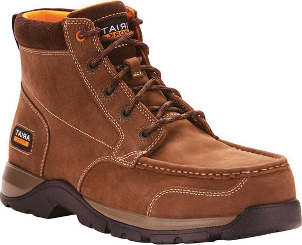 Men's Ariat Edge LTE Composite Toe Work Boot, Dark Brown Leather, large, image 1