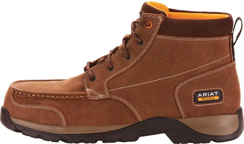 Men's Ariat Edge LTE Composite Toe Work Boot, Dark Brown Leather, large, image 2