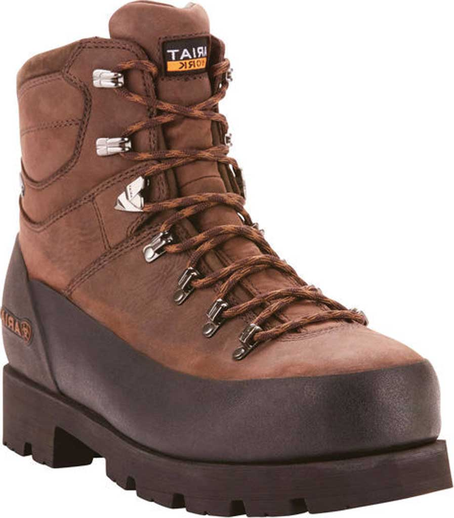 "Men's Ariat Linesman Ridge 6"" GTX Composite Toe Boot, Bitter Brown Full Grain Leather, large, image 1"