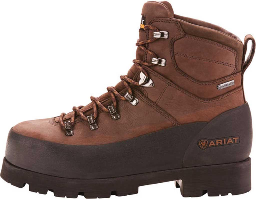 "Men's Ariat Linesman Ridge 6"" GTX Composite Toe Boot, Bitter Brown Full Grain Leather, large, image 2"