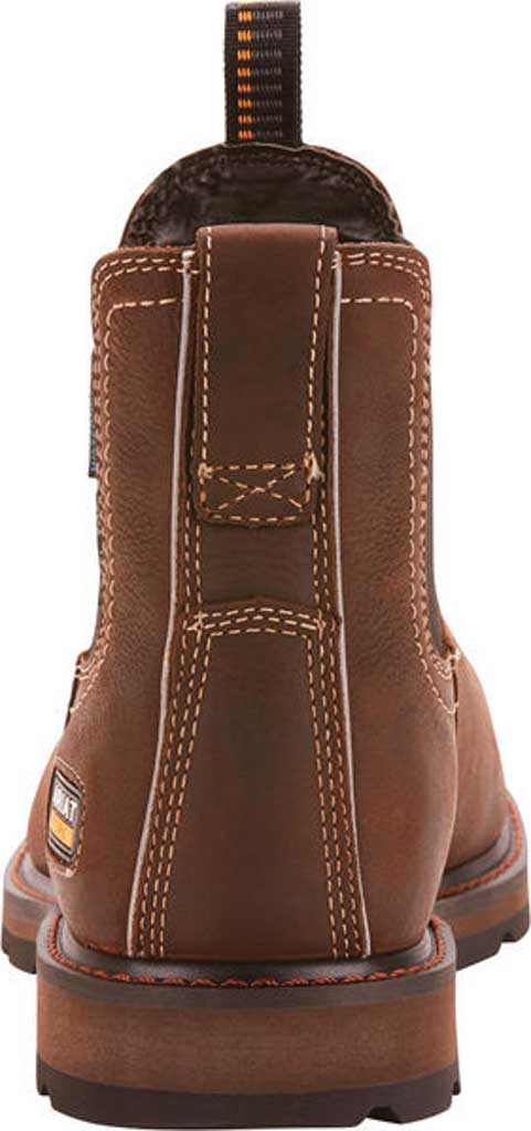 Men's Ariat Groundbreaker H2O Steel Toe Chelsea Boot, Dark Brown Full Grain Leather, large, image 3