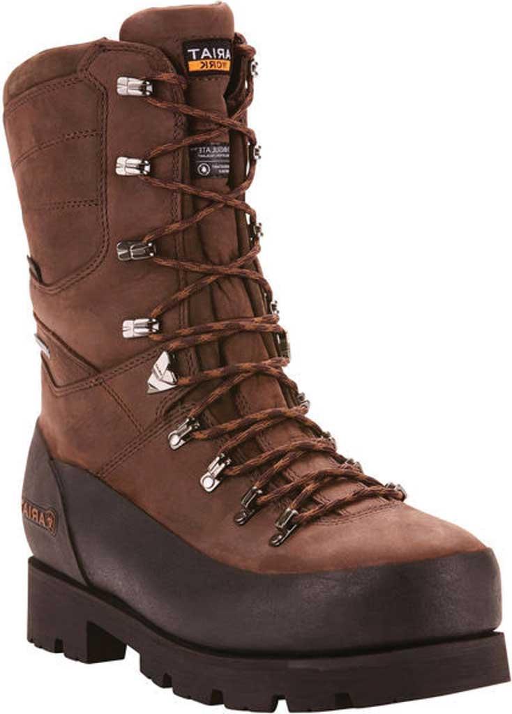 "Men's Ariat Linesman Ridge 10"" GTX 400G Composite Toe Boot, Bitter Brown Full Grain Leather, large, image 1"