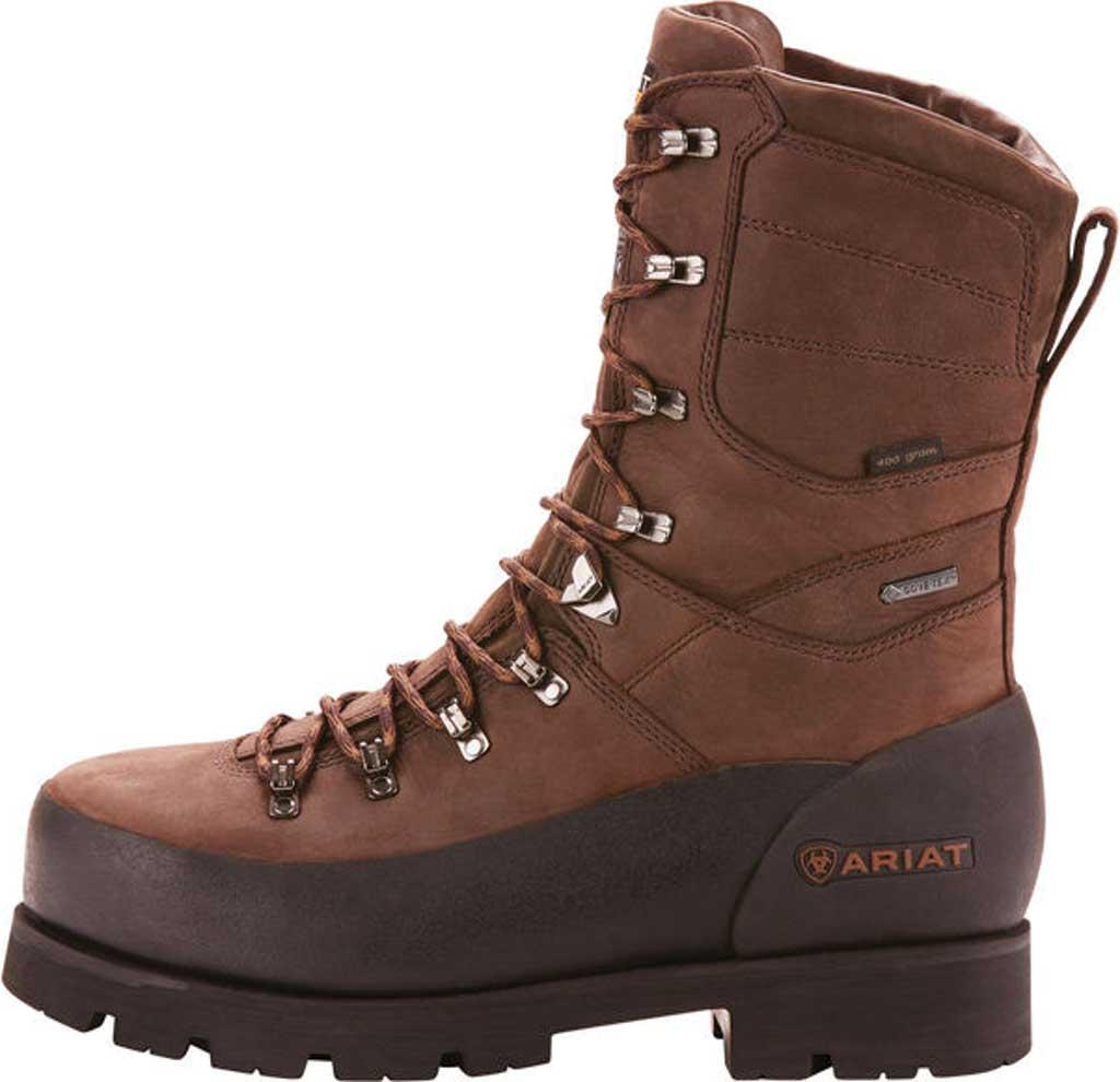 "Men's Ariat Linesman Ridge 10"" GTX 400G Composite Toe Boot, Bitter Brown Full Grain Leather, large, image 2"