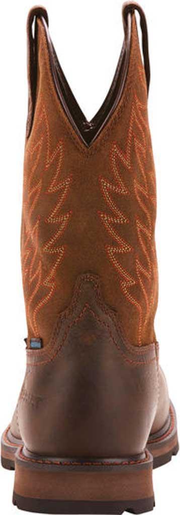 Men's Ariat Groundbreaker Wide Square Toe H2O Steel Toe Boot, Dark Brown Leather, large, image 3