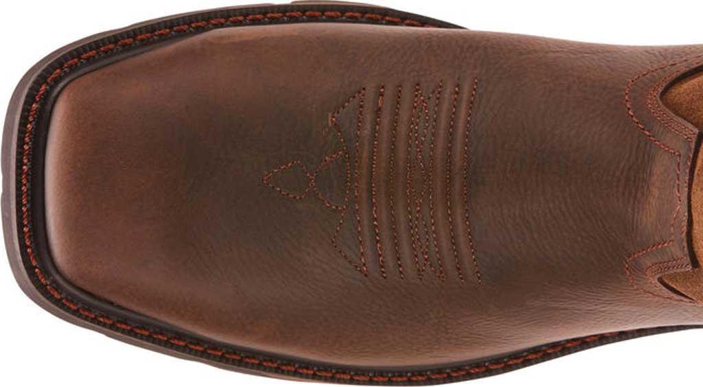 Men's Ariat Groundbreaker Wide Square Toe H2O Steel Toe Boot, Dark Brown Leather, large, image 4