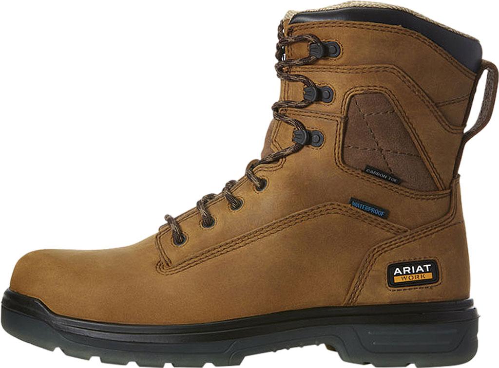 "Men's Ariat Turbo 8"" H2O Carbon Toe Work Boot, Aged Bark Full Grain Leather, large, image 2"