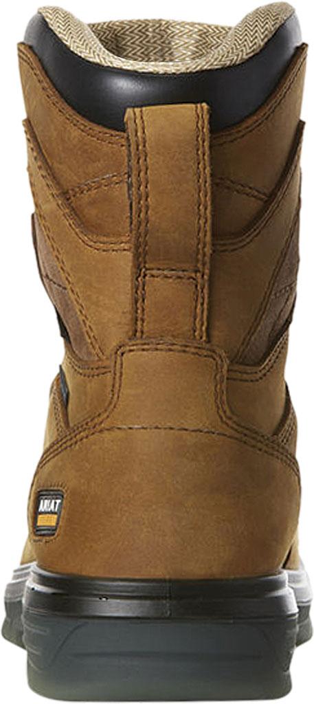 "Men's Ariat Turbo 8"" H2O Carbon Toe Work Boot, Aged Bark Full Grain Leather, large, image 3"