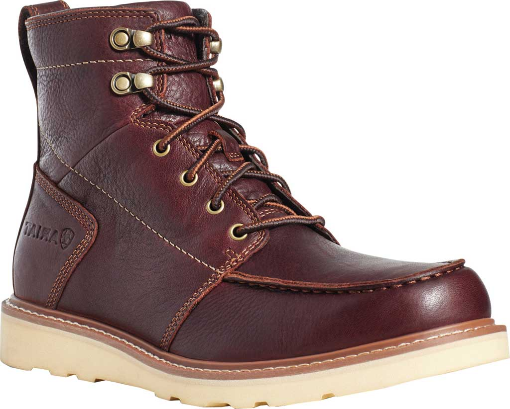 Men's Ariat Recon Lace Ankle Boot, Copper Kettle Full Grain Leather, large, image 1