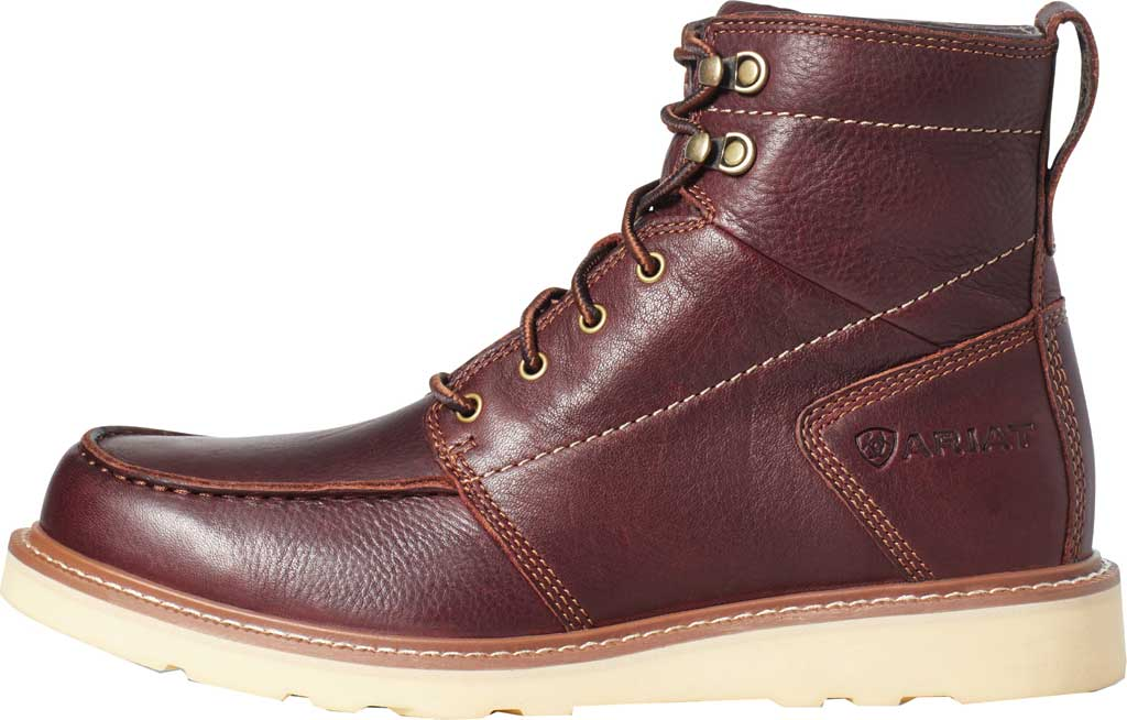 Men's Ariat Recon Lace Ankle Boot, Copper Kettle Full Grain Leather, large, image 2