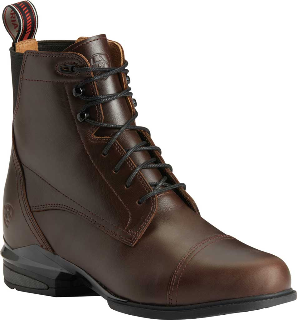 Women's Ariat Performer Nitro Paddock Riding Boot, Waxed Chocolate Full Grain Leather, large, image 1