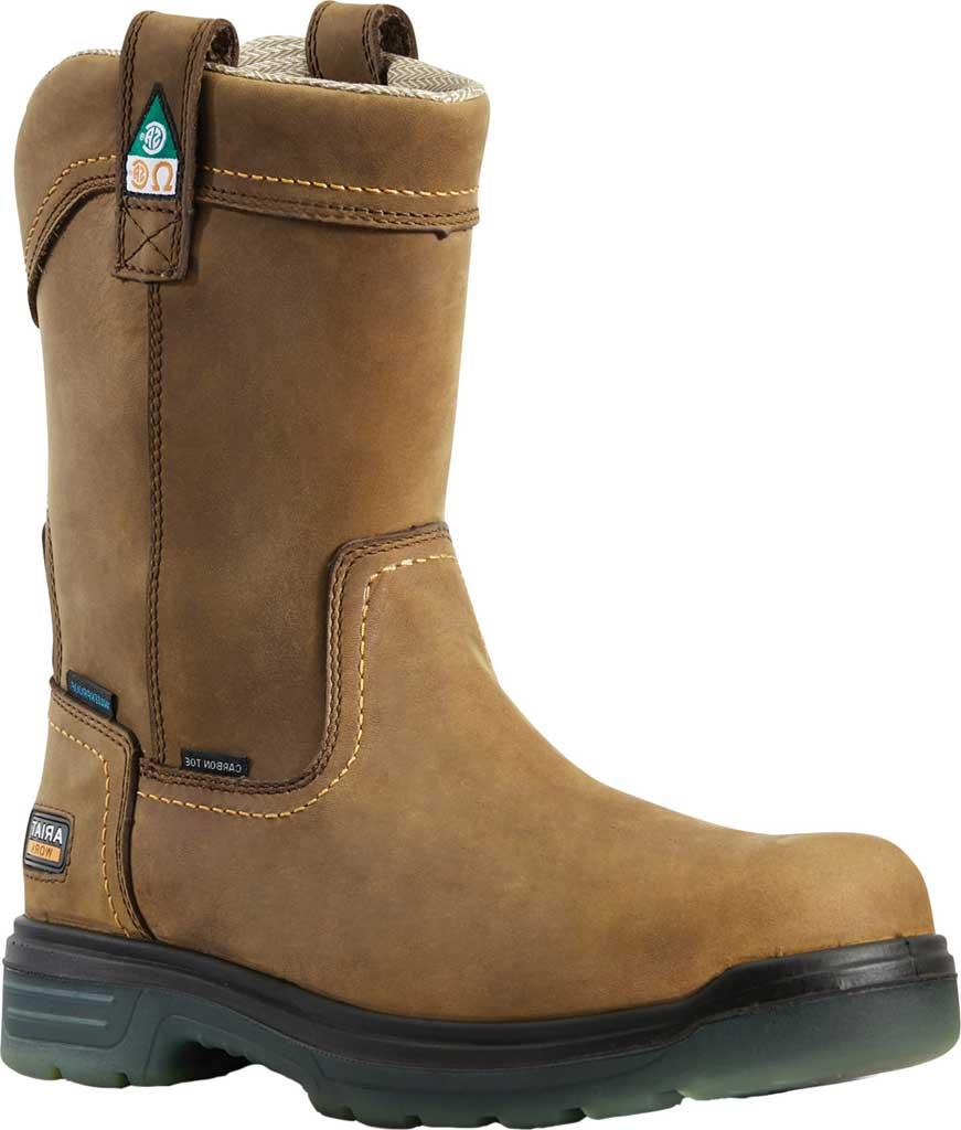 Men's Ariat Turbo Pull-On H2O CSA Carbon Toe Work Boot, Aged Bark Full Grain Leather, large, image 1