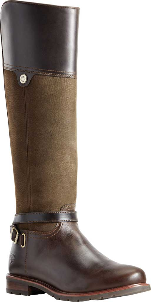 Women's Ariat Carden H2O Over The Knee Boot, Chocolate/Willow Full Grain Leather/Nubuck, large, image 1