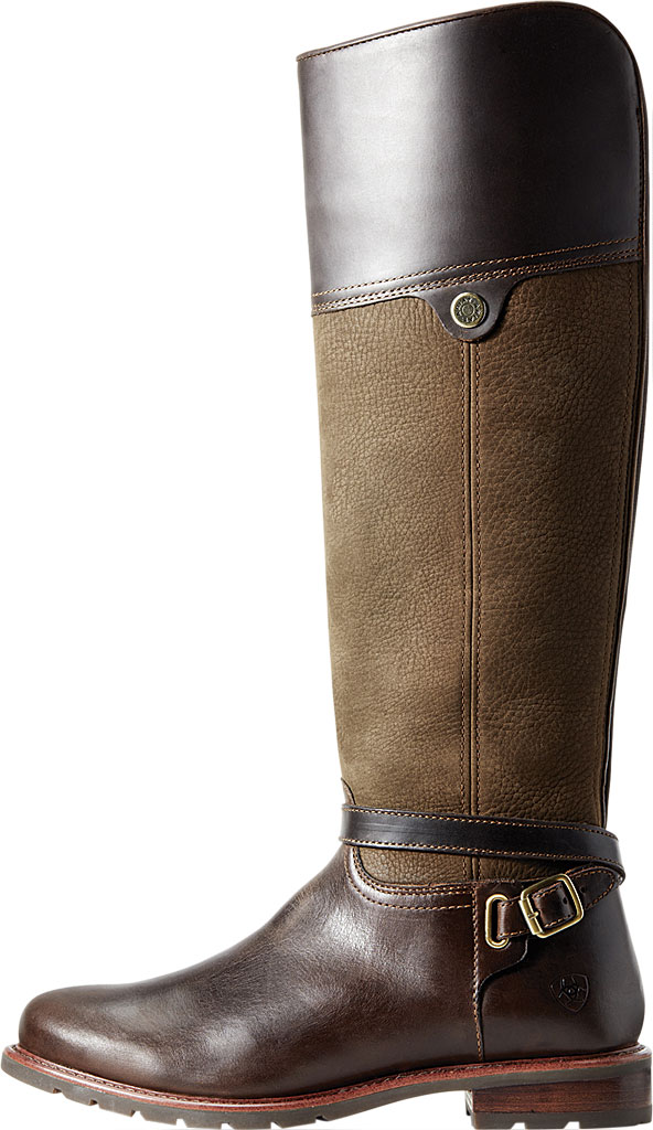 Women's Ariat Carden H2O Over The Knee Boot, Chocolate/Willow Full Grain Leather/Nubuck, large, image 2