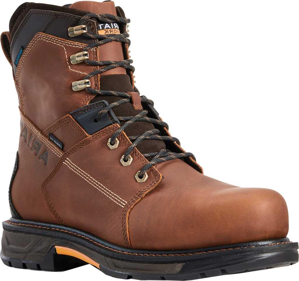 "Men's Ariat WorkHog XT 8"" H2O Carbon Toe Work Boot, Russet Brown Salt Repel Full Grain Leather, large, image 1"