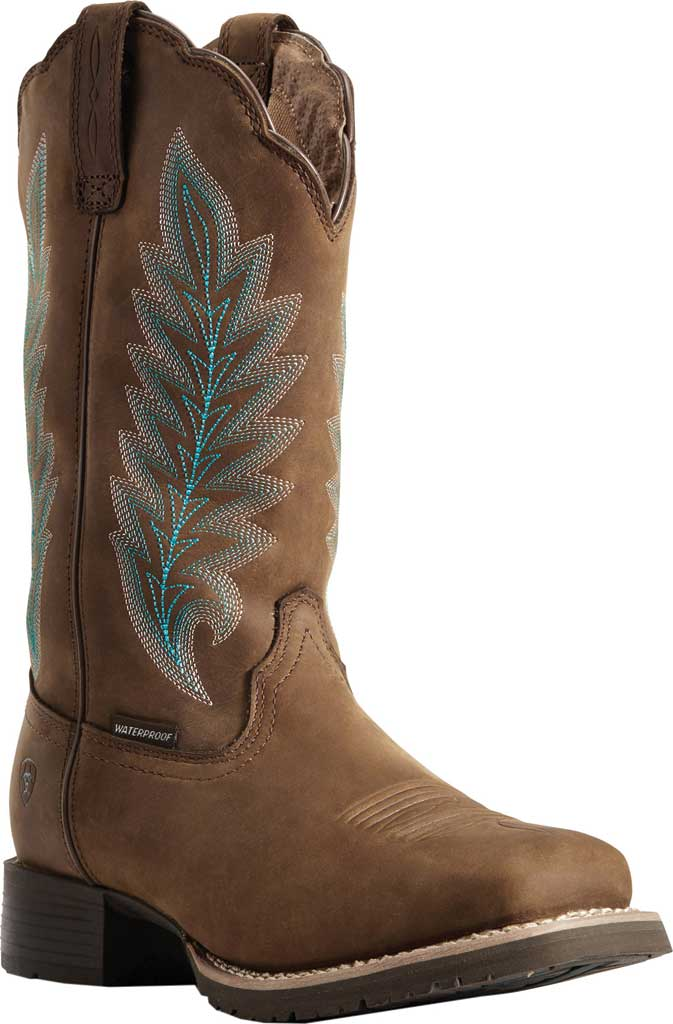 Women's Ariat Hybrid Rancher H2O 400g Cowgirl Boot, Oily Distressed Tan Full Grain Leather, large, image 1