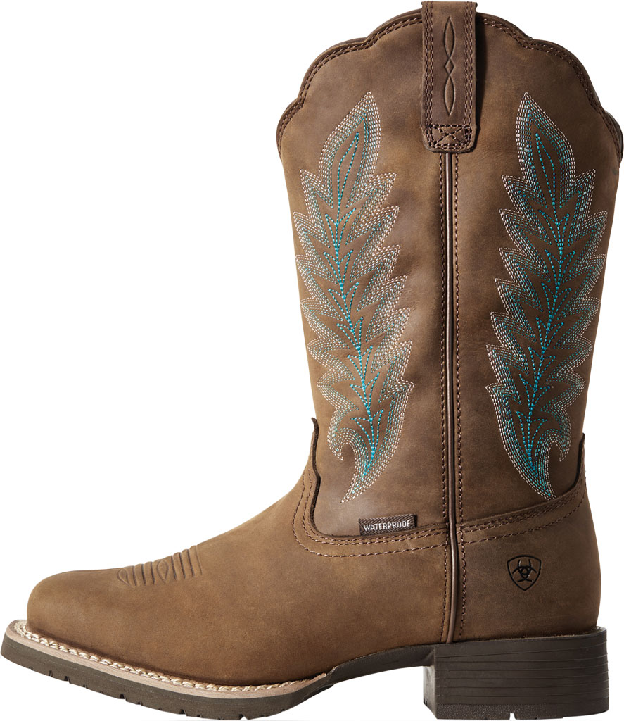 Women's Ariat Hybrid Rancher H2O 400g Cowgirl Boot, Oily Distressed Tan Full Grain Leather, large, image 2