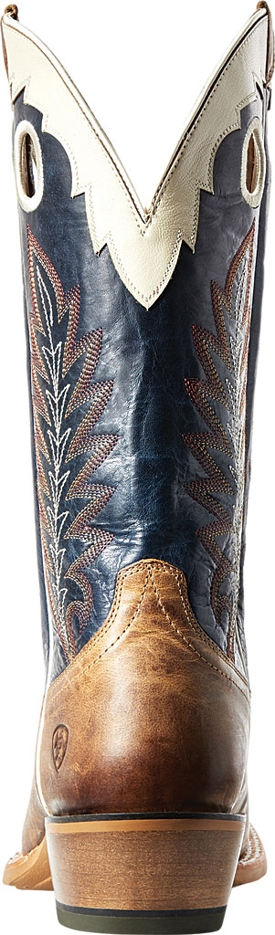 Men's Ariat Real Deal Cowboy Boot, Dusted Wheat/Navy Full Grain Leather, large, image 3