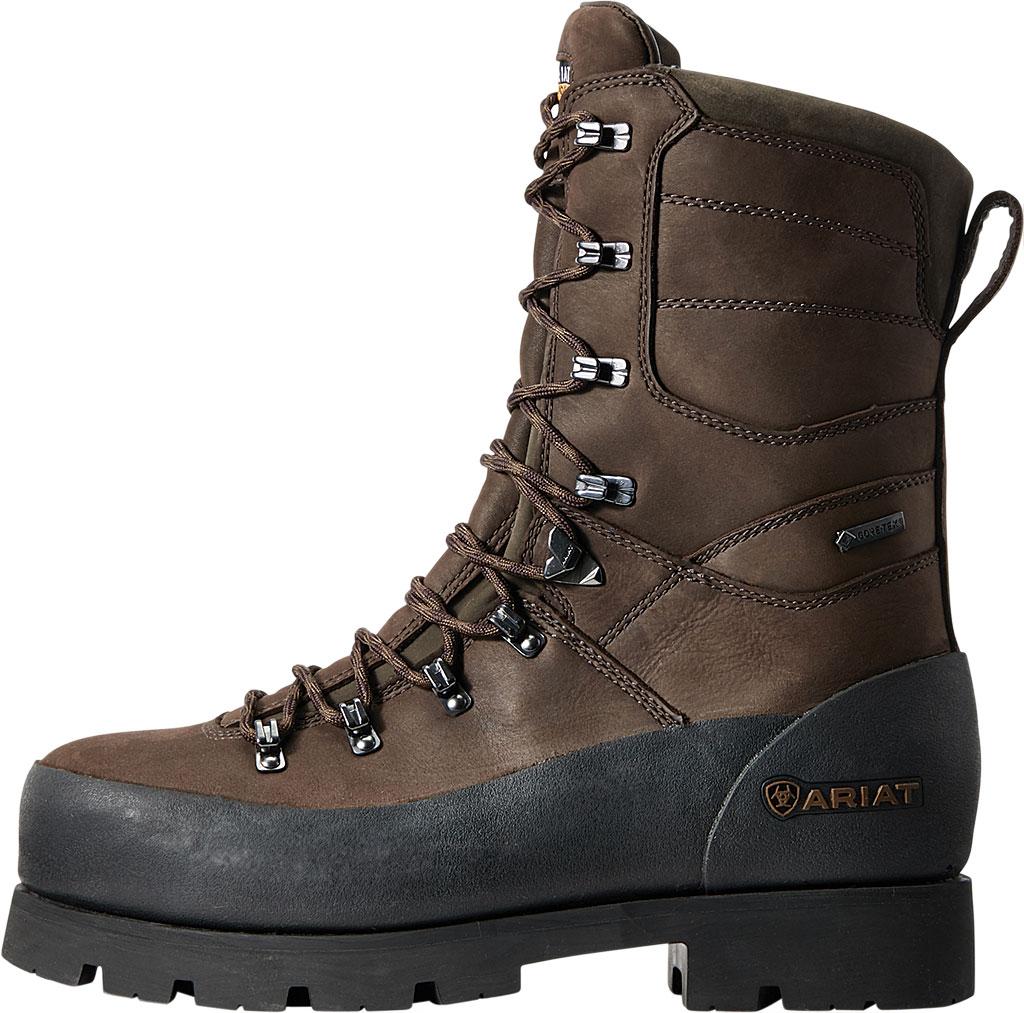"Men's Ariat Linesman Ridge 10"" GTX Composite Toe Work Boot, Bitter Brown Full Grain Leather, large, image 2"