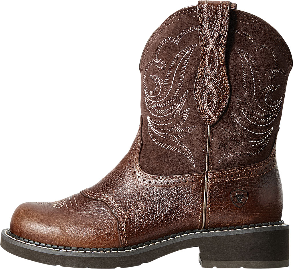 Women's Ariat Fatbaby Heritage Dapper Cowgirl Boot, Copper Kettle/Brownie Leather/Suede, large, image 2