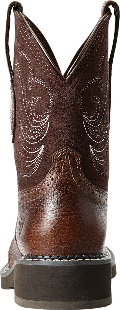 Women's Ariat Fatbaby Heritage Dapper Cowgirl Boot, Copper Kettle/Brownie Leather/Suede, large, image 3