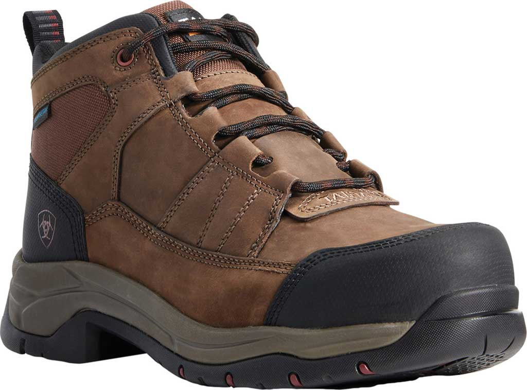 Men's Ariat Telluride H2O Composite Toe Work Boot, Distressed Brown Full Grain Leather, large, image 1