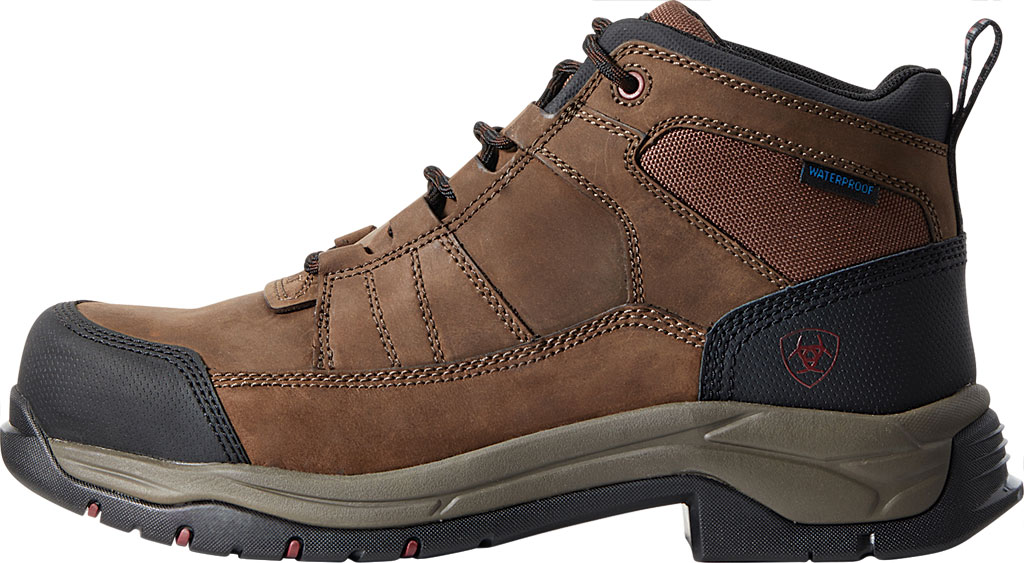 Men's Ariat Telluride H2O Composite Toe Work Boot, Distressed Brown Full Grain Leather, large, image 2