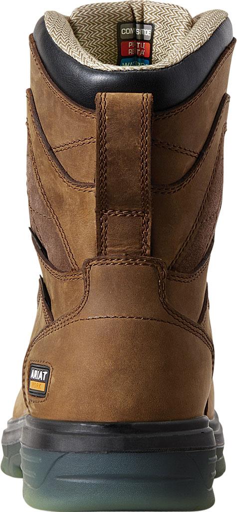 "Men's Ariat Turbo 8"" H2O CSA Carbon Toe Work Boot, Aged Bark Full Grain Leather, large, image 2"