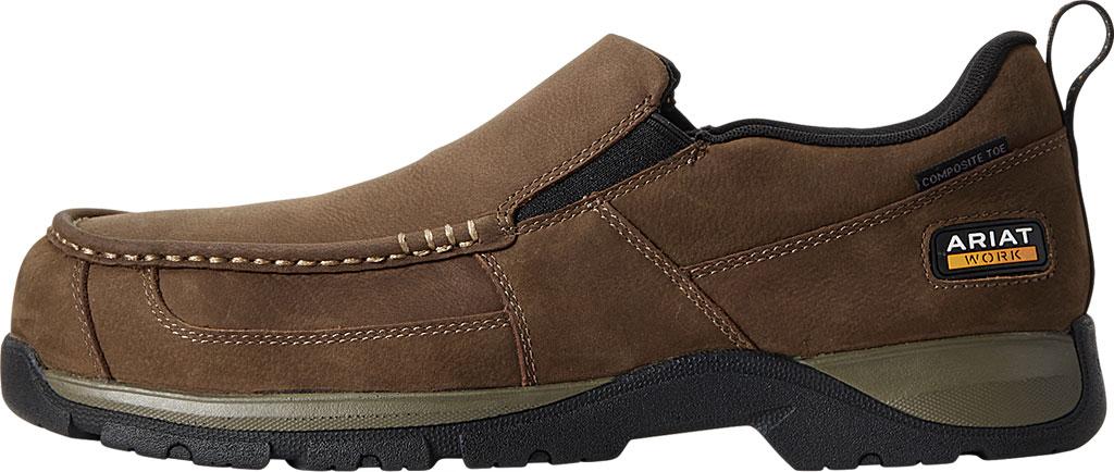 Men's Ariat Edge LTE Slip-On SD Composite Toe Shoe, Dark Brown Leather, large, image 2
