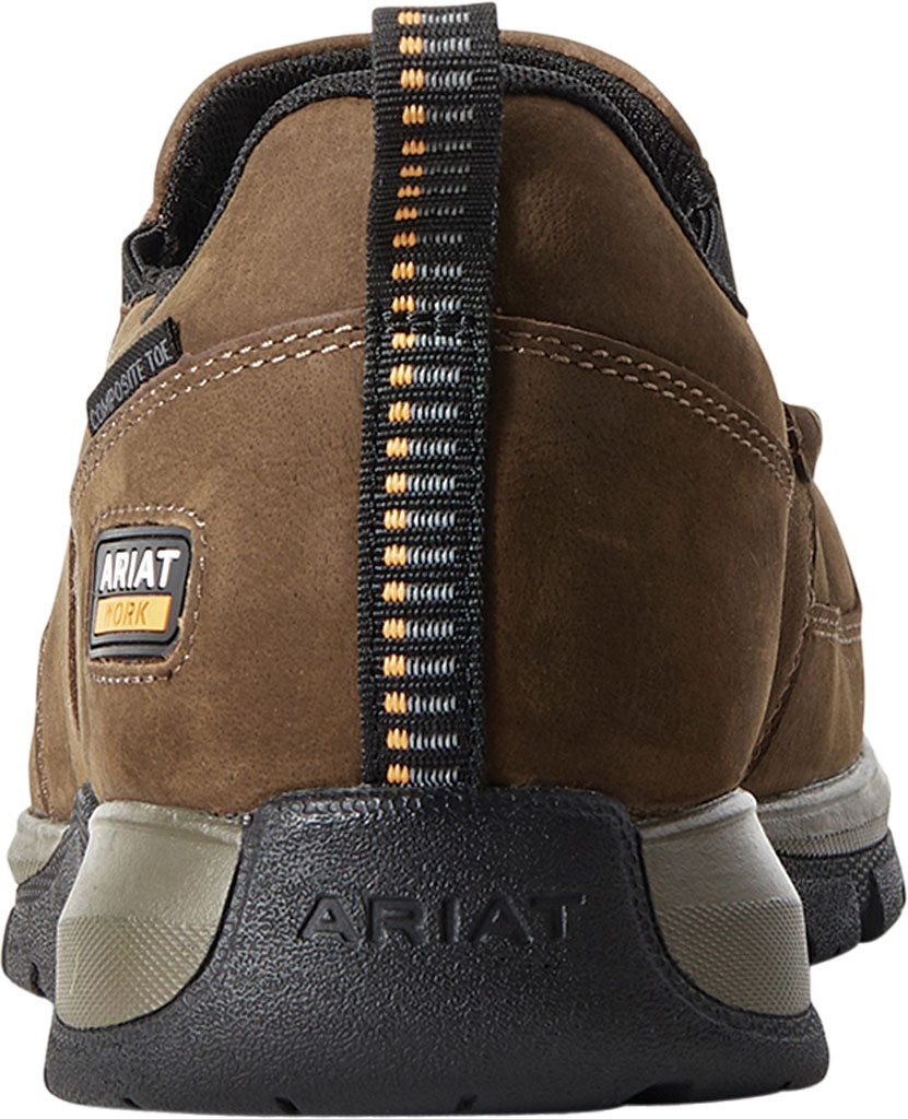 Men's Ariat Edge LTE Slip-On SD Composite Toe Shoe, Dark Brown Leather, large, image 3