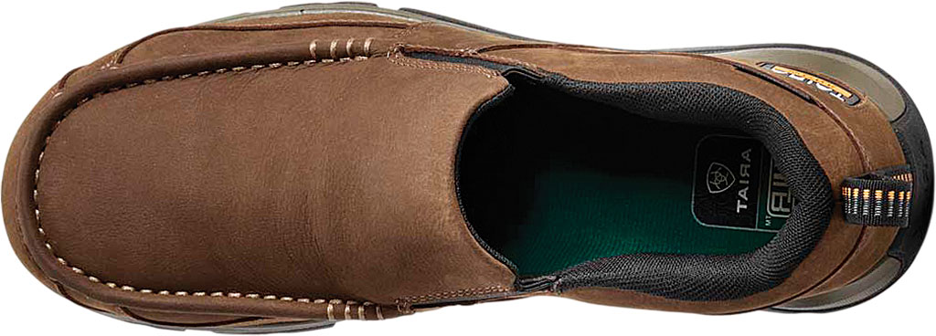 Men's Ariat Edge LTE Slip-On SD Composite Toe Shoe, Dark Brown Leather, large, image 4