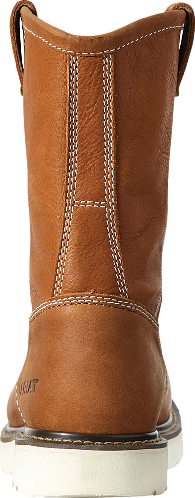 Men's Ariat Rebar Wedge Pull-On Soft Toe Work Boot, Golden Grizzly Full Grain Leather, large, image 3