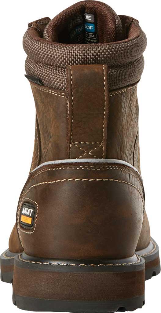 "Men's Ariat Groundbreaker 6"" II H2O Steel Toe Work Boot, Dark Brown Full Grain Leather, large, image 3"