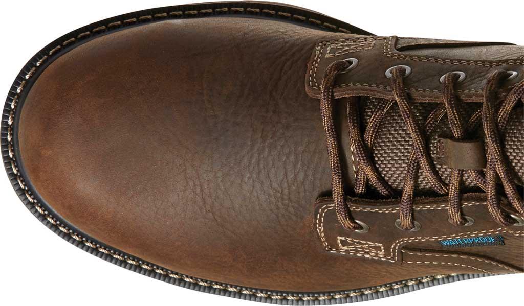 "Men's Ariat Groundbreaker 6"" II H2O Steel Toe Work Boot, Dark Brown Full Grain Leather, large, image 4"