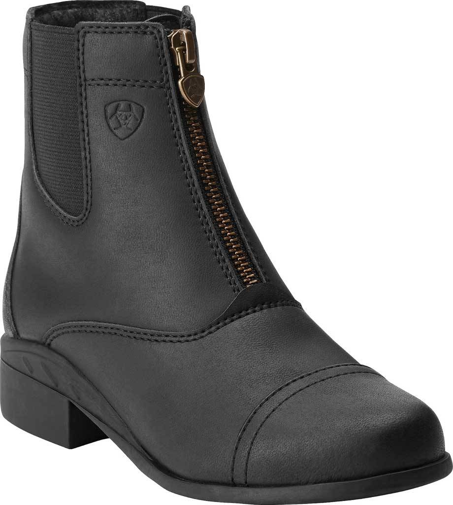 Children's Ariat Scout Zip Paddock Boot, Black Full Grain Leather, large, image 1