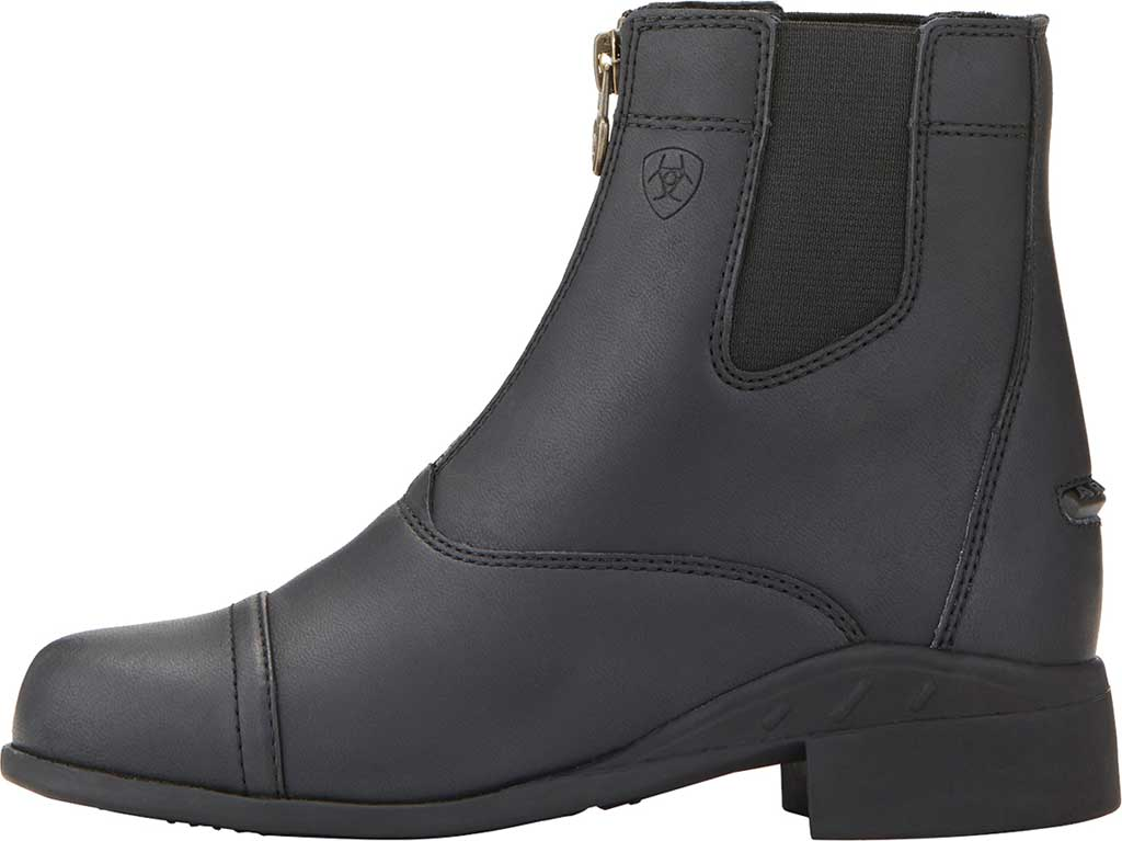 Children's Ariat Scout Zip Paddock Boot, Black Full Grain Leather, large, image 2