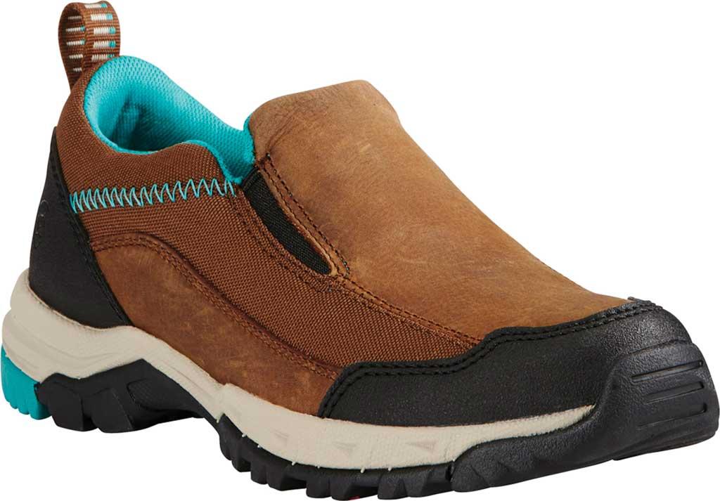Women's Ariat Skyline Slip-On Work Shoe, Taupe Full Grain Leather, large, image 1