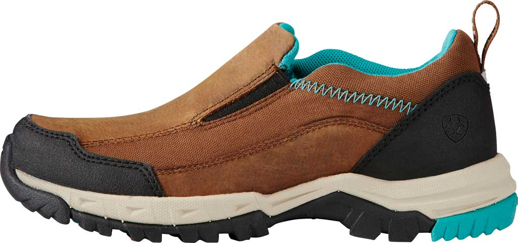 Women's Ariat Skyline Slip-On Work Shoe, Taupe Full Grain Leather, large, image 2