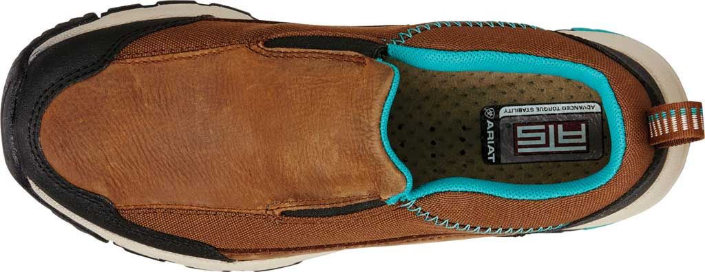 Women's Ariat Skyline Slip-On Work Shoe, Taupe Full Grain Leather, large, image 4