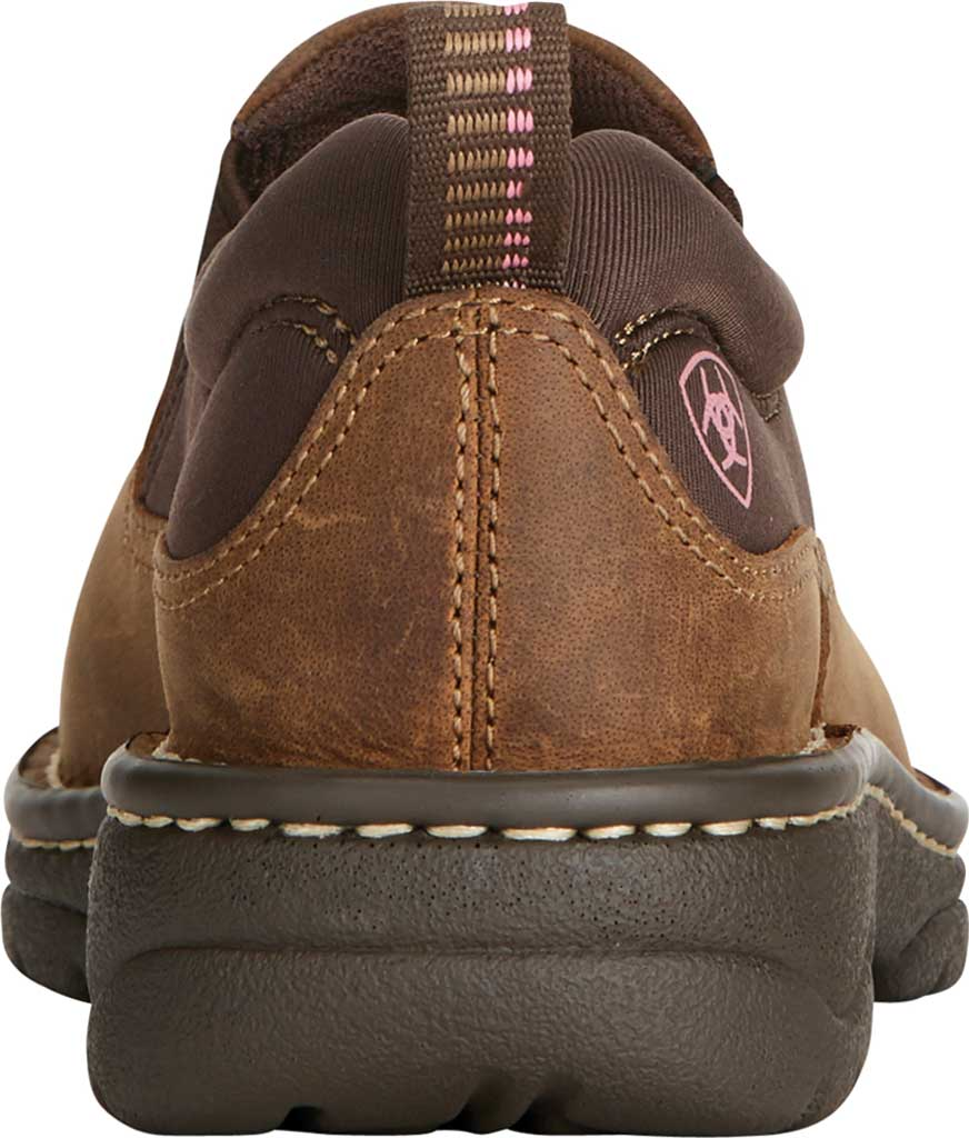 Women's Ariat Traverse Slip-On Shoe, Distressed Brown Full Grain Leather, large, image 3