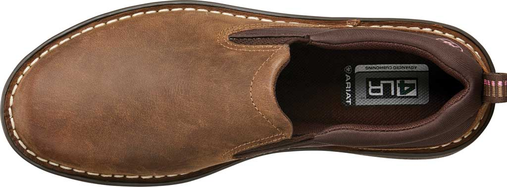 Women's Ariat Traverse Slip-On Shoe, Distressed Brown Full Grain Leather, large, image 4