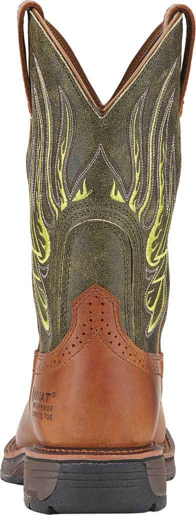 Men's Ariat WorkHog Mesteno H2O Comp Toe Work Boot, Rust/Moss Green Full Grain Leather, large, image 3
