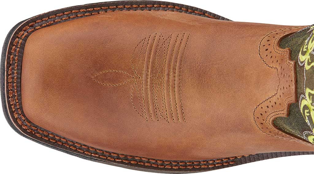 Men's Ariat WorkHog Mesteno H2O Comp Toe Work Boot, Rust/Moss Green Full Grain Leather, large, image 4