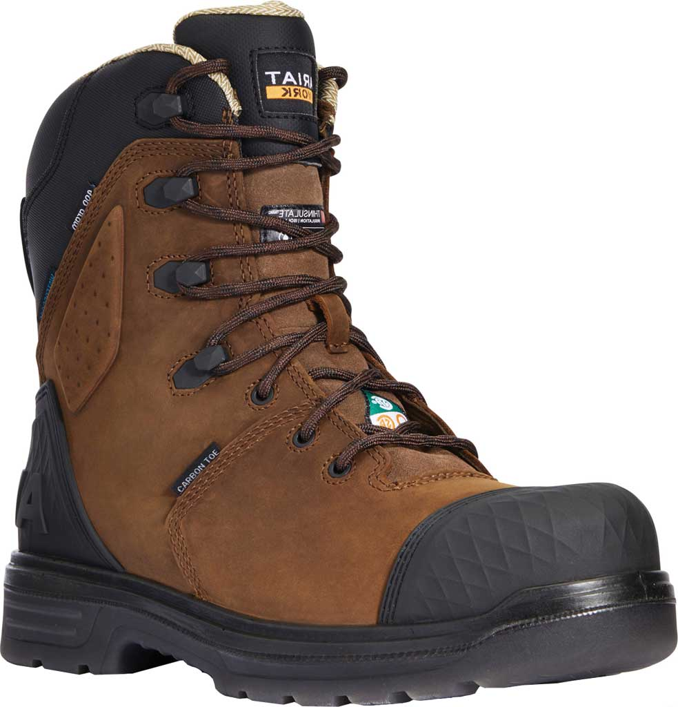 """Men's Ariat Turbo Outlaw 8"""" H2O 400g CSA Composite Toe Boot, Barley Brown Waterproof Full Grain Leather, large, image 1"""